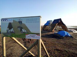 Bouw schuilhutten Bargerveen bij Zwartemeer